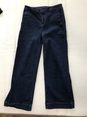 Massimo Dutti Jeans a zampa d'elefante blu scuro Cotone