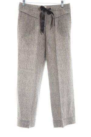 Massimo Dutti Pantalone culotte grigio chiaro motivo a quadri stile casual