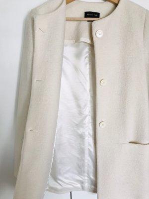 Massimo Dutti Short Coat natural white