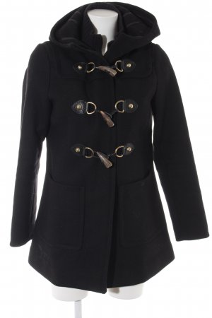 Massimo Dutti Duffel Coat black casual look