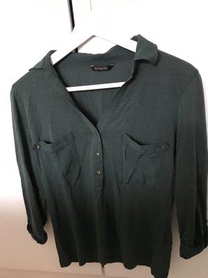Massimo Dutti dunkelgrüne Bluse
