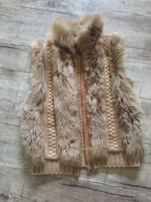 Massimo Dutti Fake Fur Weste
