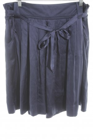 Massimo Dutti Faltenrock dunkelblau Elegant