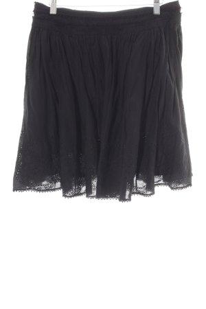 Massimo Dutti Plaid Skirt black Boho look