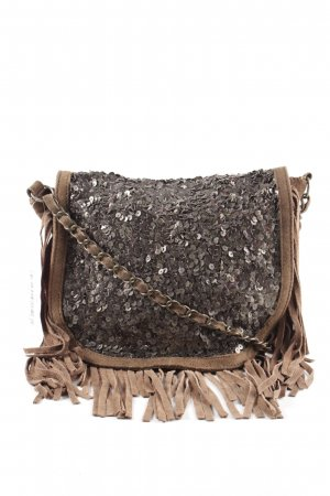 Massimo Dutti Fringed Bag bronze-colored extravagant style