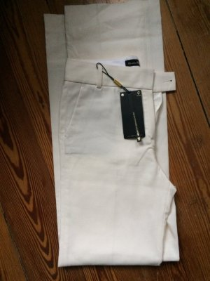 Massimo Dutti Marlene Trousers white cotton