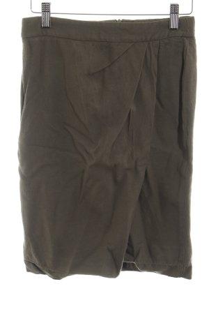 Massimo Dutti Flared Skirt green grey elegant