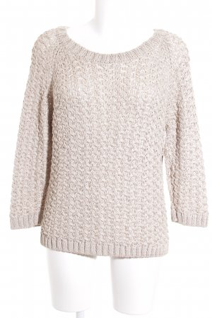 Massimo Dutti Grobstrickpullover beige Casual-Look