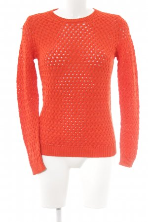 Massimo Dutti Grobstrickpullover orange Casual-Look