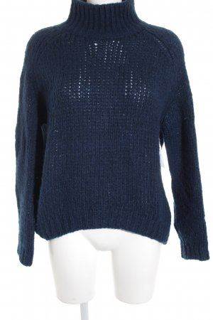 Massimo Dutti Grobstrickpullover petrol Casual-Look