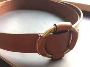 Massimo Dutti Cinturón color bronce Cuero