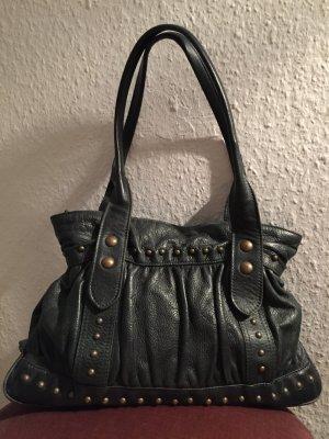 Massimo Dutti Handbag dark green-gold-colored