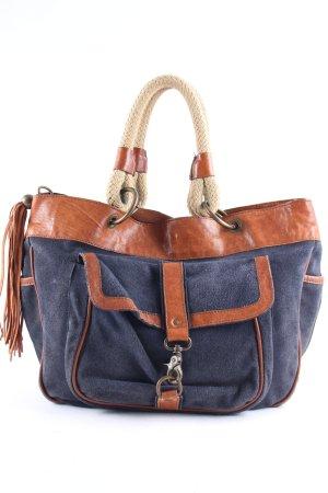 Massimo Dutti Handbag dark blue-light brown street-fashion look