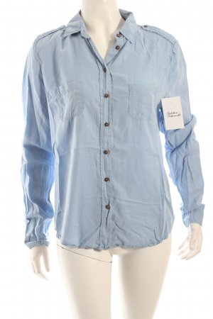 Massimo Dutti Hemd-Bluse himmelblau Casual-Look