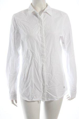 Massimo Dutti Hemd-Bluse weiß klassischer Stil