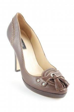 Massimo Dutti High Heels braun-beige schlichter Stil