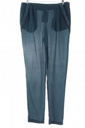 Massimo Dutti High Waist Trousers petrol elegant