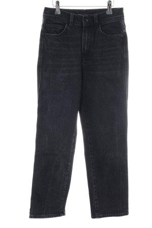 Massimo Dutti High Waist Jeans schwarz Casual-Look