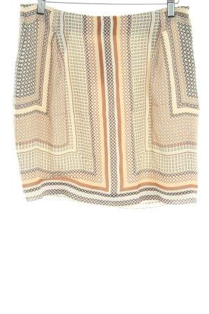 Massimo Dutti High Waist Skirt graphic pattern casual look