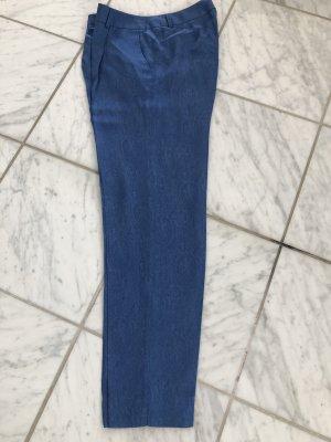 Massimo Dutti Pantalón de pinza azul aciano Viscosa