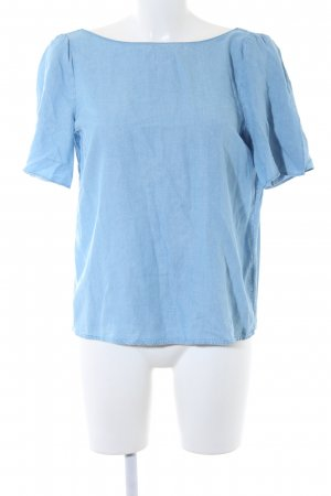 Massimo Dutti Blouse en jean bleu azur style décontracté