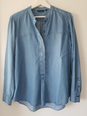 Massimo Dutti Denim Blouse azure-cornflower blue