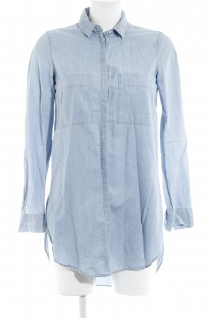 Massimo Dutti Jeanshemd blau Casual-Look