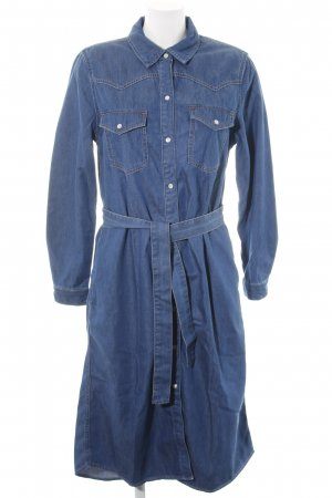 Massimo Dutti Denim Dress blue athletic style