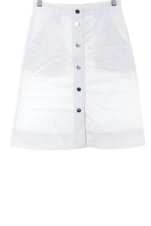 Massimo Dutti Spijkerrok wit casual uitstraling