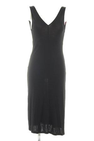 Massimo Dutti Jerseykleid schwarz Elegant