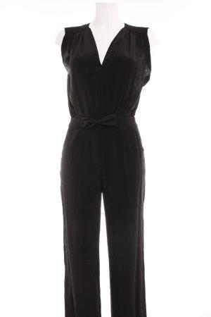 Massimo Dutti Jumpsuit schwarz Elegant