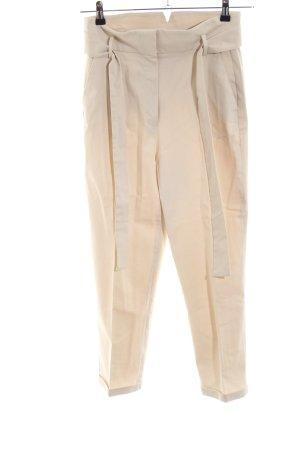 Massimo Dutti Peg Top Trousers cream business style