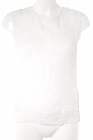 Massimo Dutti Kimono-Bluse wollweiß Punktemuster Business-Look