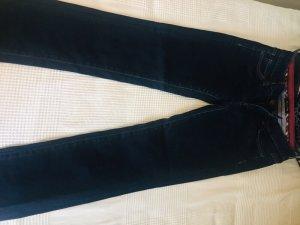 Massimo Dutti Vaquero estilo zanahoria azul oscuro