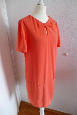 Massimo Dutti Kleid koralle flamingo orange Gr. 36 (38) neu mit Etikett