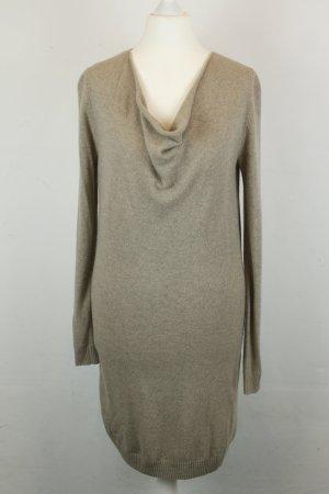 Massimo Dutti Kleid Strickkleid Gr. S braun mit Wasserfallausschnitt