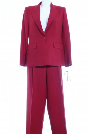 Massimo Dutti Kostüm ziegelrot Business-Look