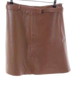 Massimo Dutti Leather Skirt bronze-colored casual look