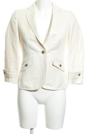 Massimo Dutti Blazer corto crema stile casual
