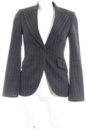 Massimo Dutti Kurz-Blazer grau-weiß Nadelstreifen Business-Look