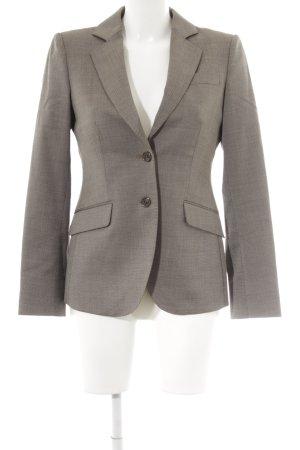 Massimo Dutti Kurz-Blazer graubraun-wollweiß Punktemuster Business-Look
