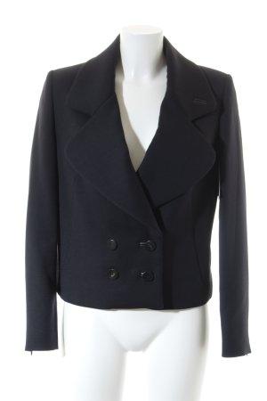 Massimo Dutti Kurz-Blazer schwarz-dunkelblau Elegant