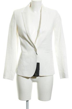 Massimo Dutti Kurz-Blazer weiß-wollweiß Business-Look