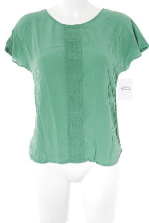 Massimo Dutti Kurzarm-Bluse grün Elegant