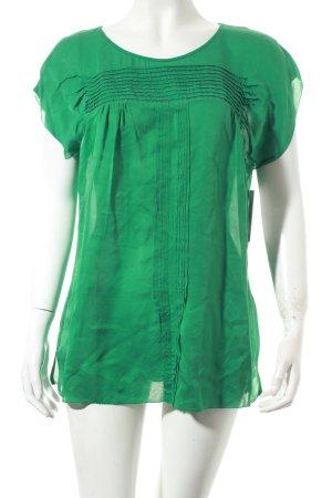 Massimo Dutti Kurzarm-Bluse grün klassischer Stil