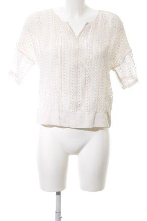 Massimo Dutti Kurzarm-Bluse weiß Elegant