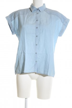Massimo Dutti Short Sleeve Shirt blue business style