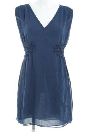 Massimo Dutti Kurzarmkleid blau Elegant