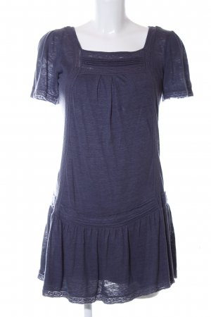 Massimo Dutti Kurzarmkleid graublau Romantik-Look