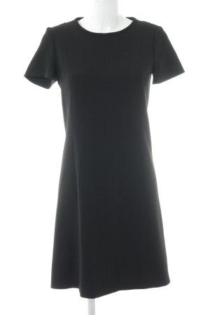 Massimo Dutti Kurzarmkleid schwarz Elegant